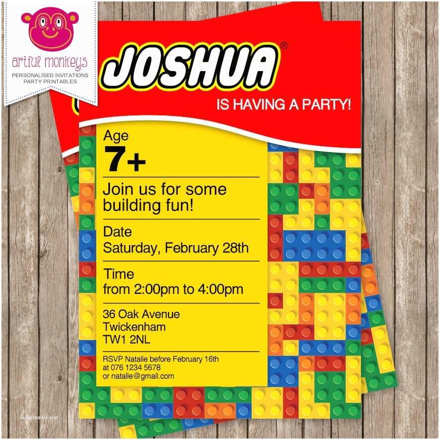 Lego Party Invitations Lego Party Printable Invitation – orderecigsjuicefo