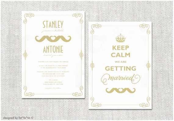 Lesbian Wedding Invitation Wording Keep Calm Gay Wedding Invitation Double Mustache Couple