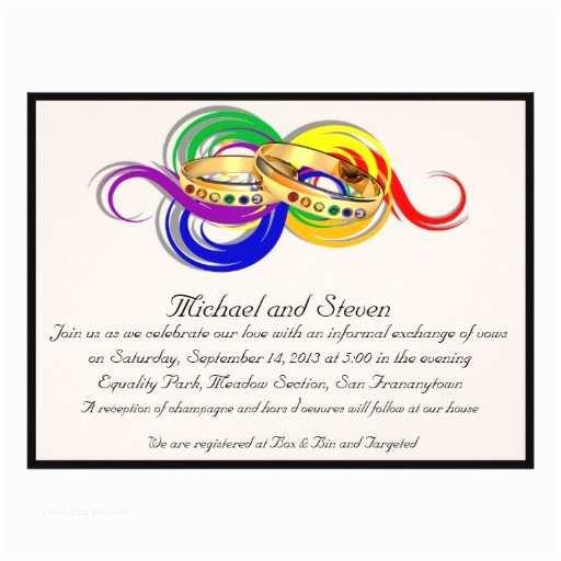 Lesbian Wedding Invitations Custom Gay Wedding Invitations Non formal