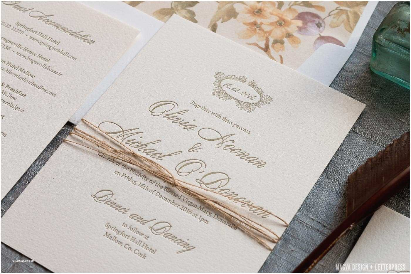 Letterpress Wedding Invitations Antoinette Magva Design Letterpress