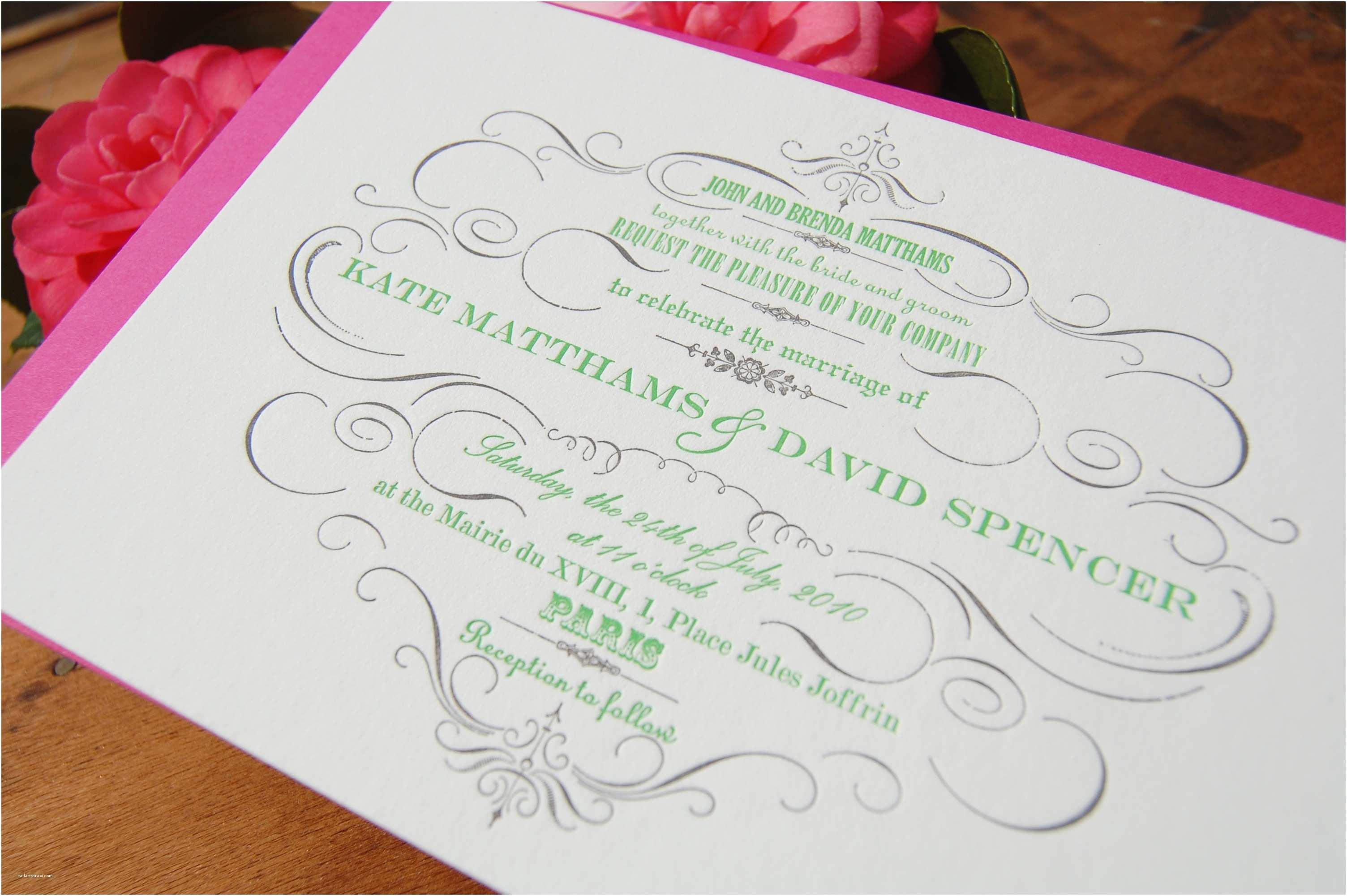 Letterpress Wedding Invitations Letterpress Wedding Invitations