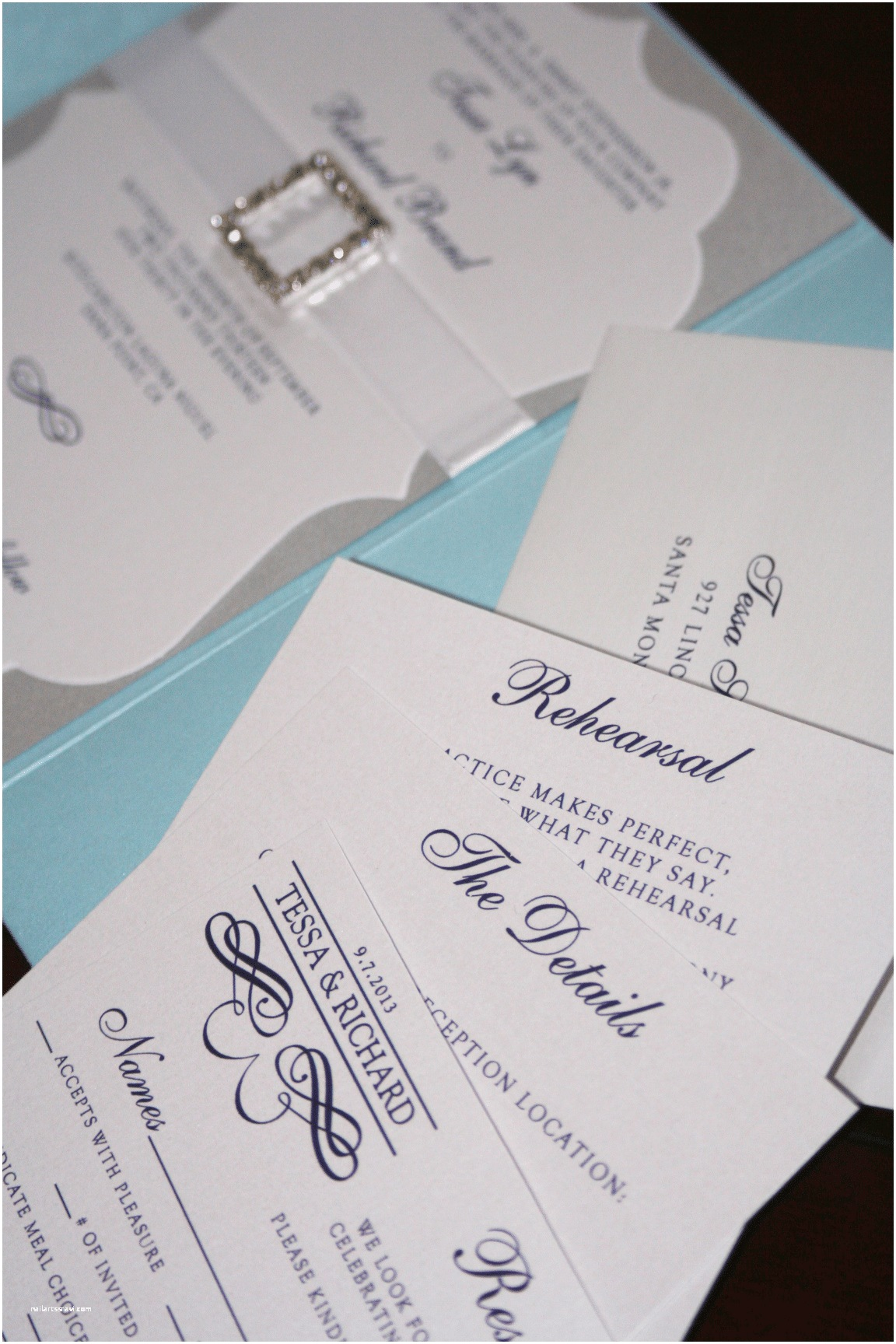 Light Blue Wedding Invitations Light Blue and Silver Wedding Invitations too Chic