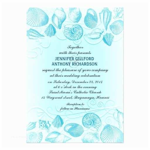 Light Blue Wedding  Light Blue Seashells Wedding
