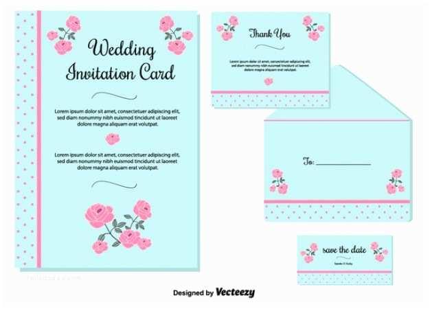 light blue wedding invitation card