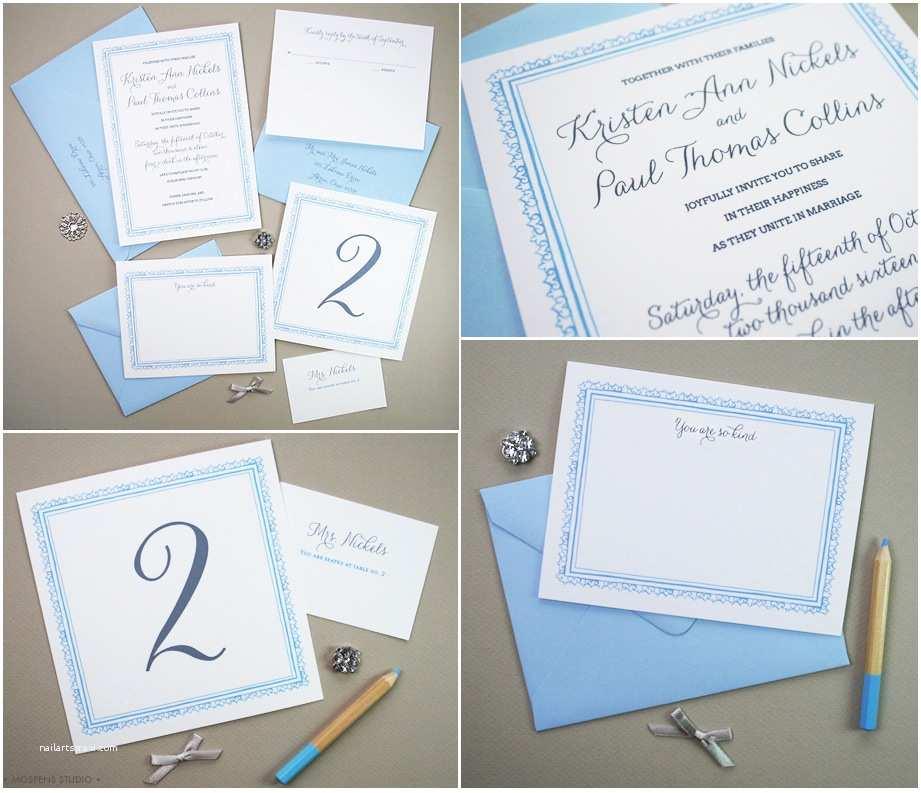 Light Blue Wedding Invitations Light Blue Wedding Invitations