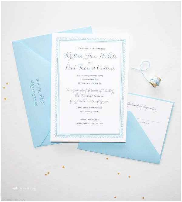 Light In the Box Wedding Invitations Blue Vintage Wedding Invitations