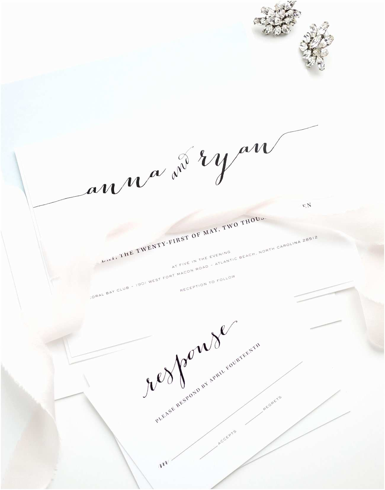 Light In the Box Wedding Invitations Calligraphy Wedding Invitations In Light Blue – Wedding