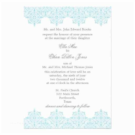 Light In the Box Wedding Invitations Light Blue Damask Wedding Invitations