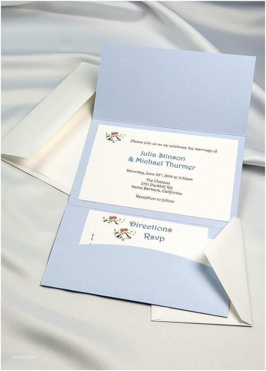 Light In the Box Wedding Invitations Light Blue Horizon Pocket Folder