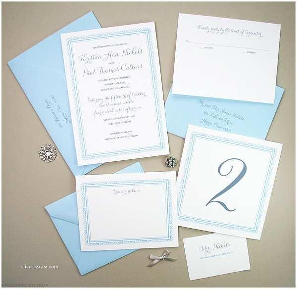 Light In the Box Wedding Invitations Light Blue Wedding Invitation