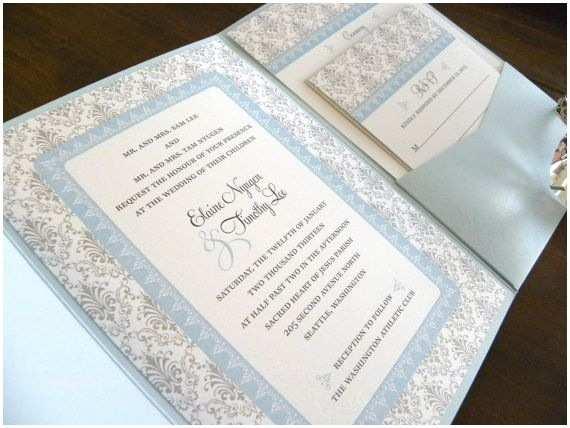 Light In the Box Wedding Invitations Light Blue Wedding Invitations