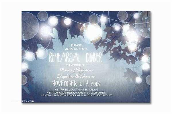 Light In the Box Wedding Invitations Read More – String Lights Elegant Rehearsal Dinner Invites