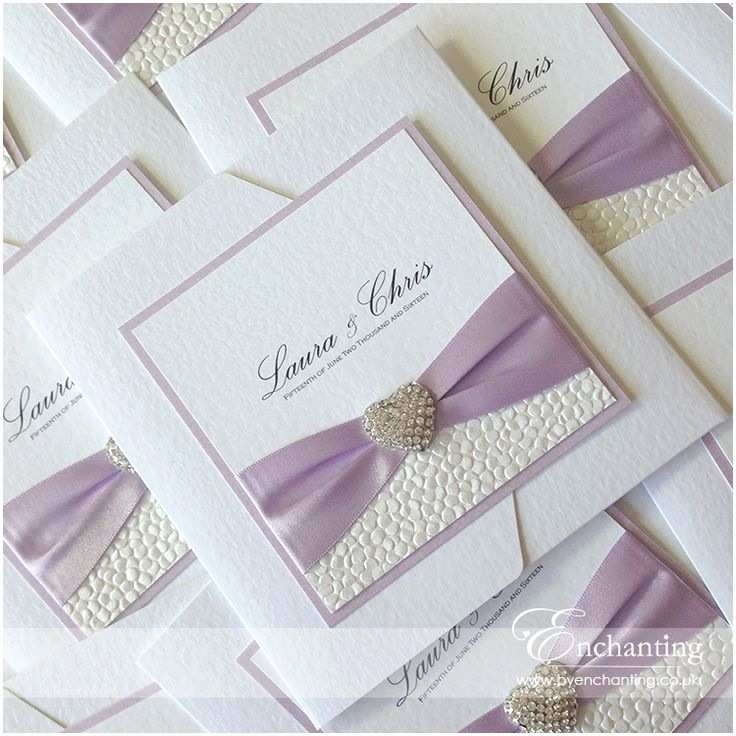 Lilac and Silver Wedding Invitations Best 25 Handmade Wedding Invitations Ideas On Pinterest