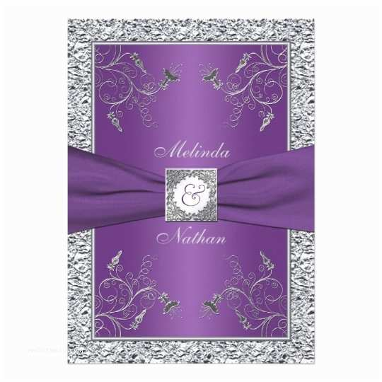 Lilac and Silver Wedding Invitations Lavender and Silver Wedding Invitations