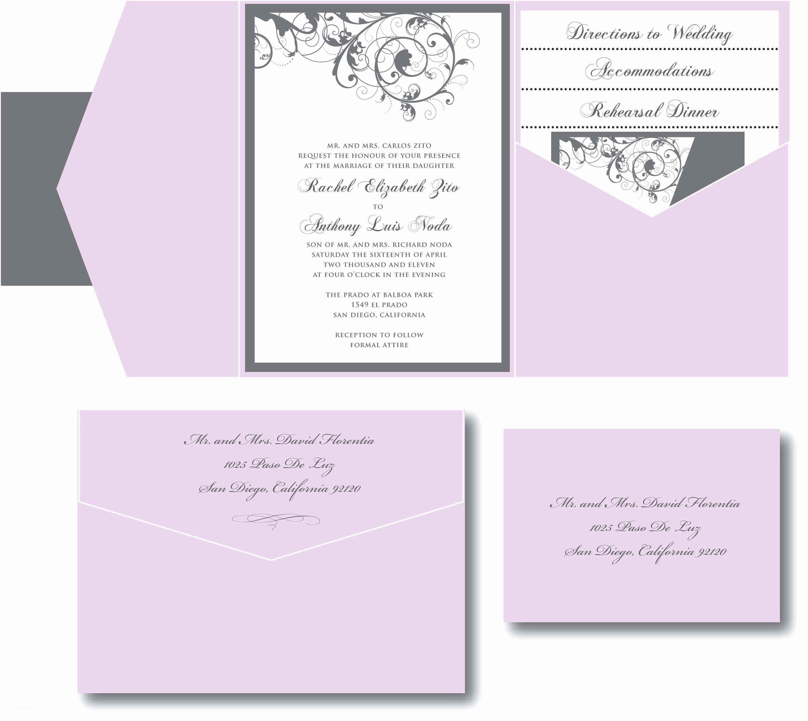 Lilac and Silver Wedding Invitations Purple and Silver Wedding Invitation – A Vibrant Wedding