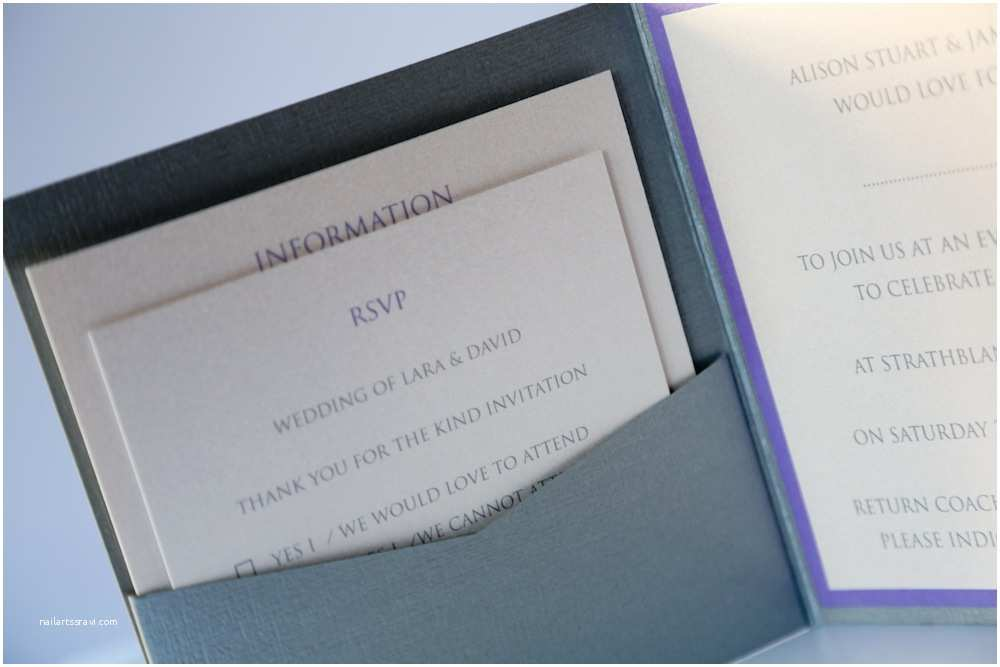 Lilac and Silver Wedding Invitations Vintage Lace & Lilac Rose Wedding Invitation Pocketfold