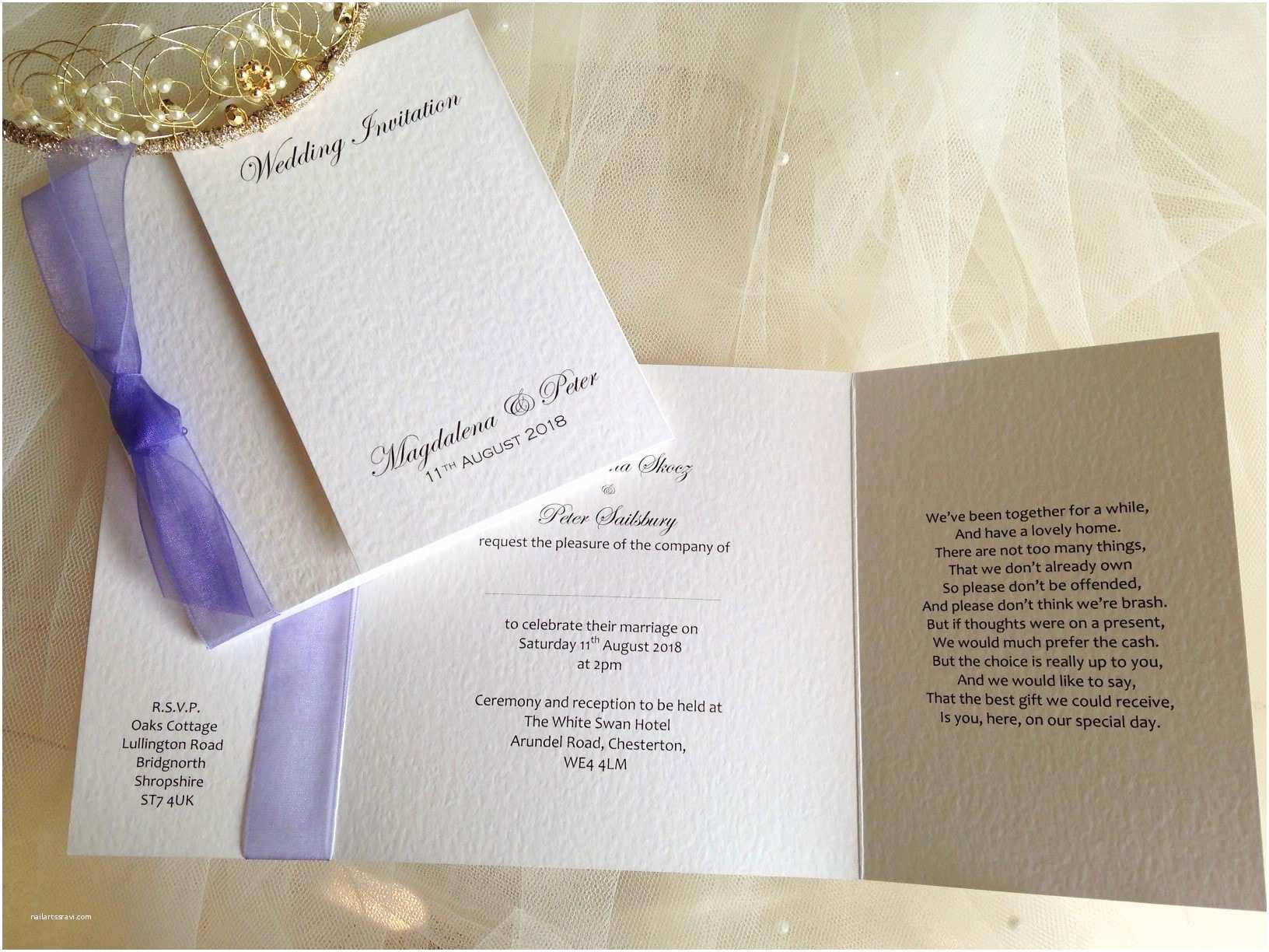 Lilac Wedding Invitations Lilac Wedding Invitations
