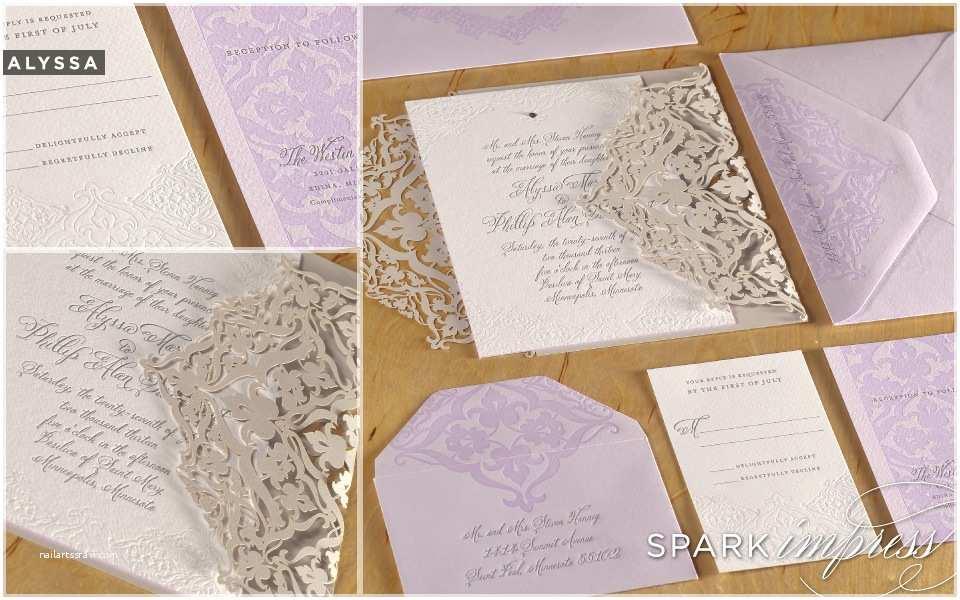Lilac Wedding Invitations Unique Wedding Invitations Letterpress Wedding Stationery