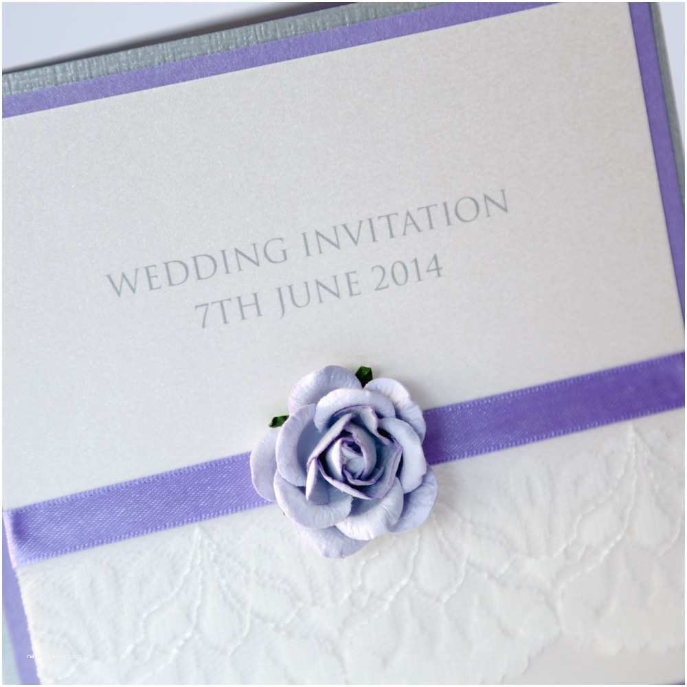 Lilac Wedding Invitations Vintage Lace & Lilac Rose Wedding Invitation Pocketfold