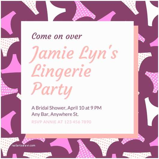 Lingerie Party Invitations Bridal Shower Invitation Templates Canva