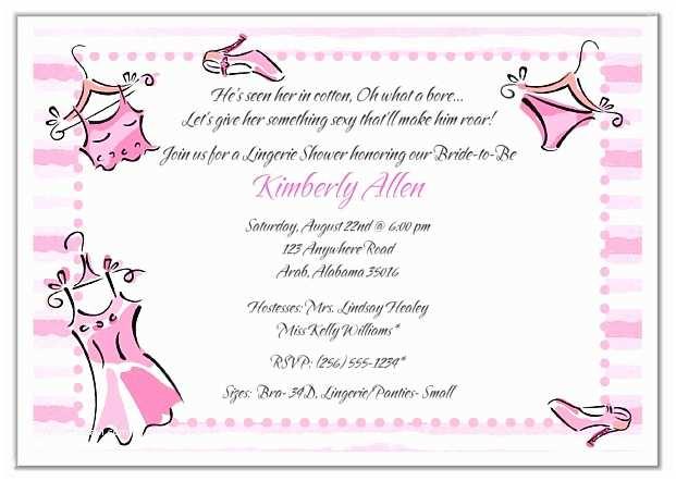 Lingerie Party Invitations Bridal Shower Lingerie Bachelorette Party Invitations