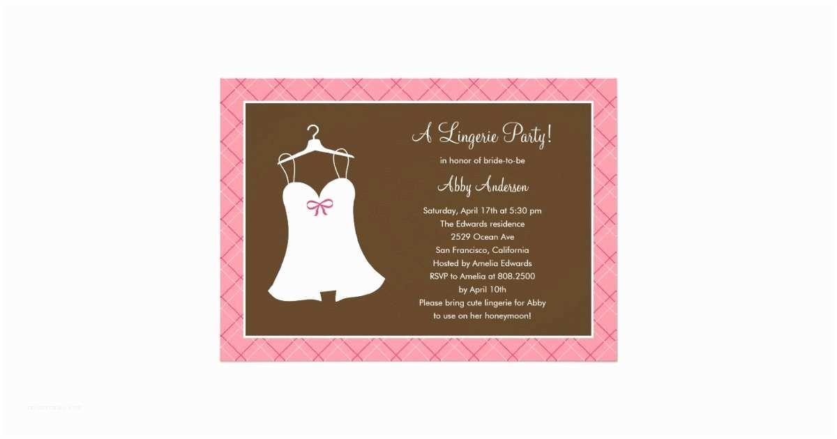 Lingerie Party Invitations Lingerie Party Bridal Shower Invitation