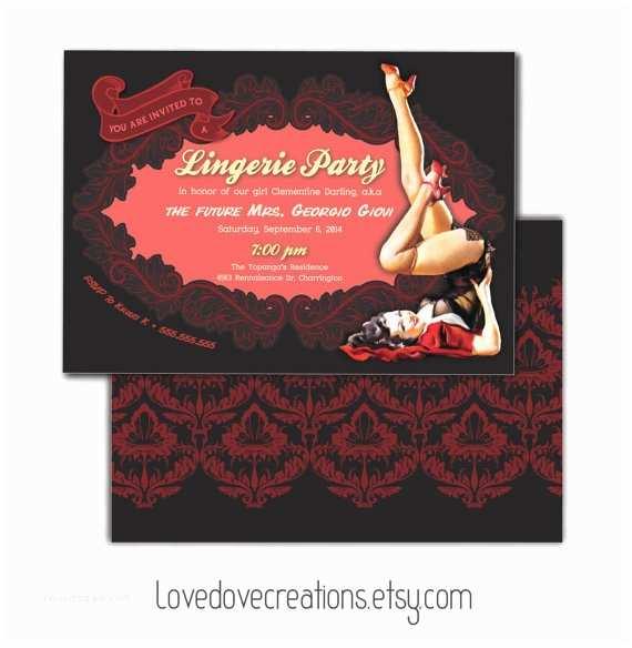 Lingerie Party Invitations Lingerie Party Invitation Bachelorette Party Sta Te