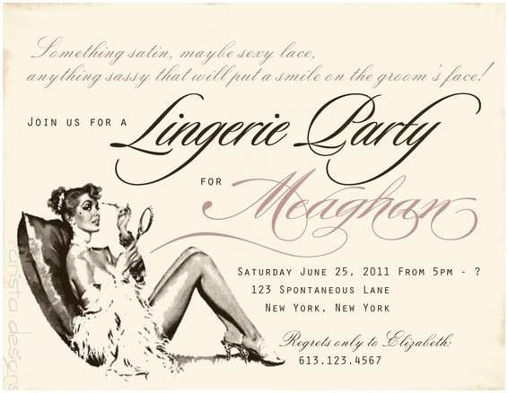 Lingerie Party Invitations Wedding Shower Invitations