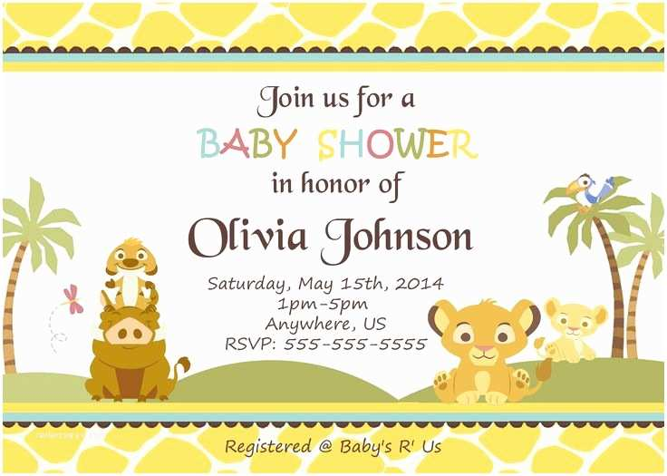 Lion King Baby Shower Invitations 17 Best Images About Simba Lion King Baby Shower