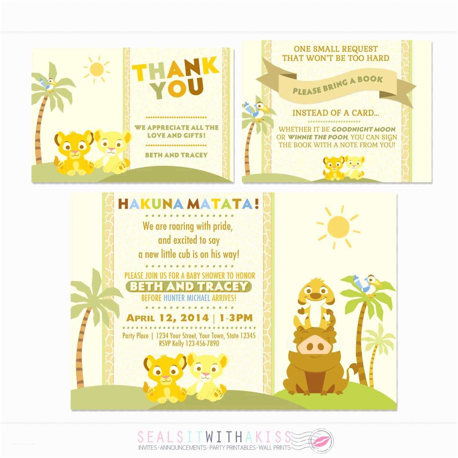 Lion King Baby Shower Invitations Baby Lion King Baby Shower