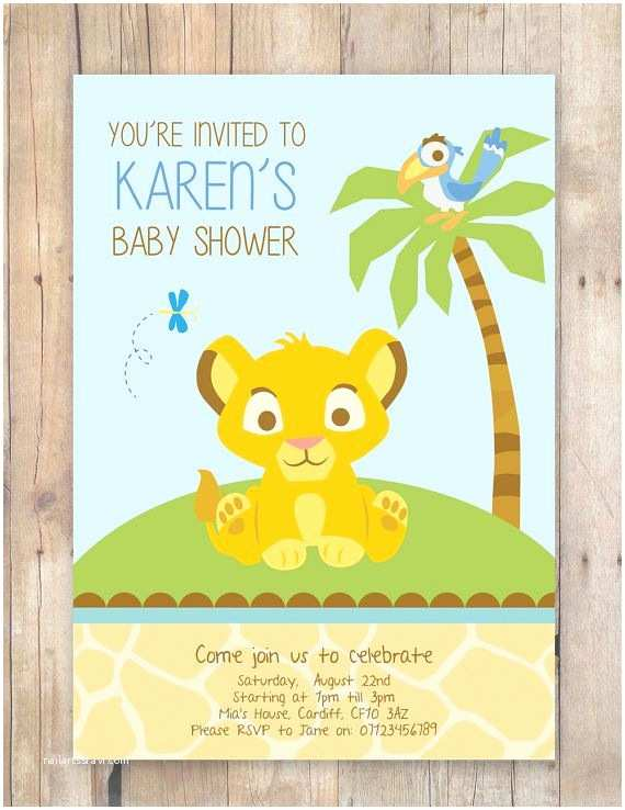 Lion King Baby Shower Invitations Lion King Baby Shower Invitation by Flurgdesigns On Etsy