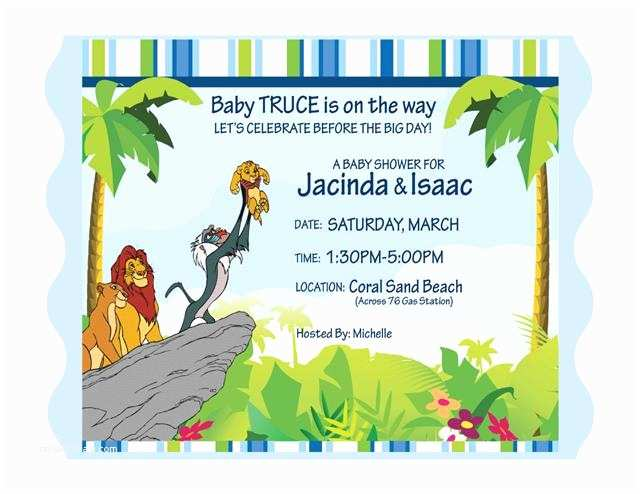 Lion King Baby Shower Invitations Lion King Invitations Baby Shower