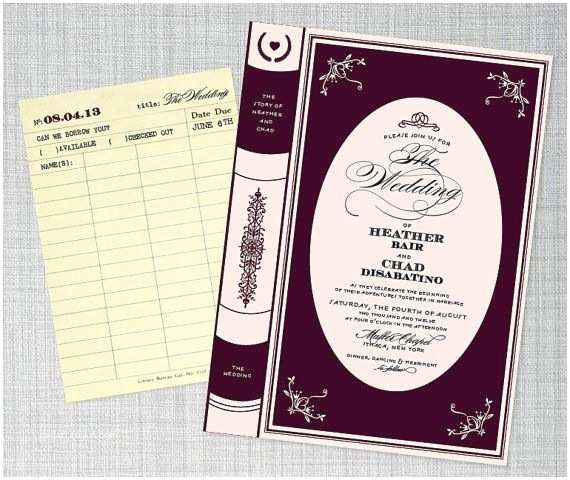 Literary Themed Wedding Invitations 17 Best Images About Bibliophile Bride On