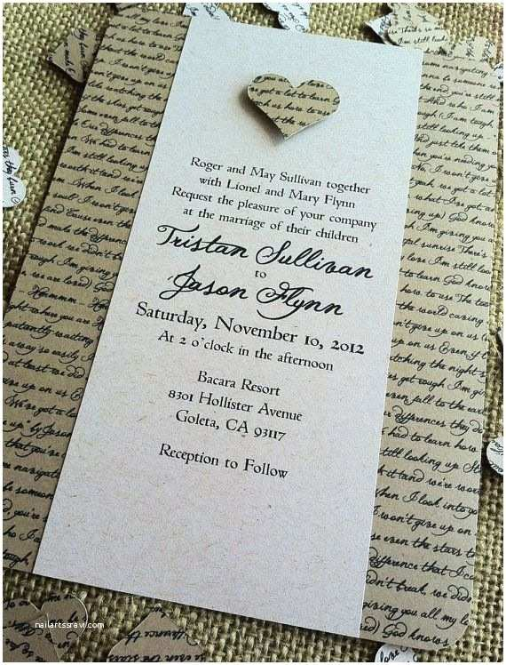 Literary Themed Wedding Invitations Literary Themed Wedding Consider Us