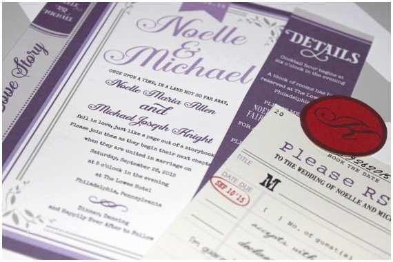 Literary themed Wedding Invitations Literary themed Wedding Invitation Novel Book Inspired