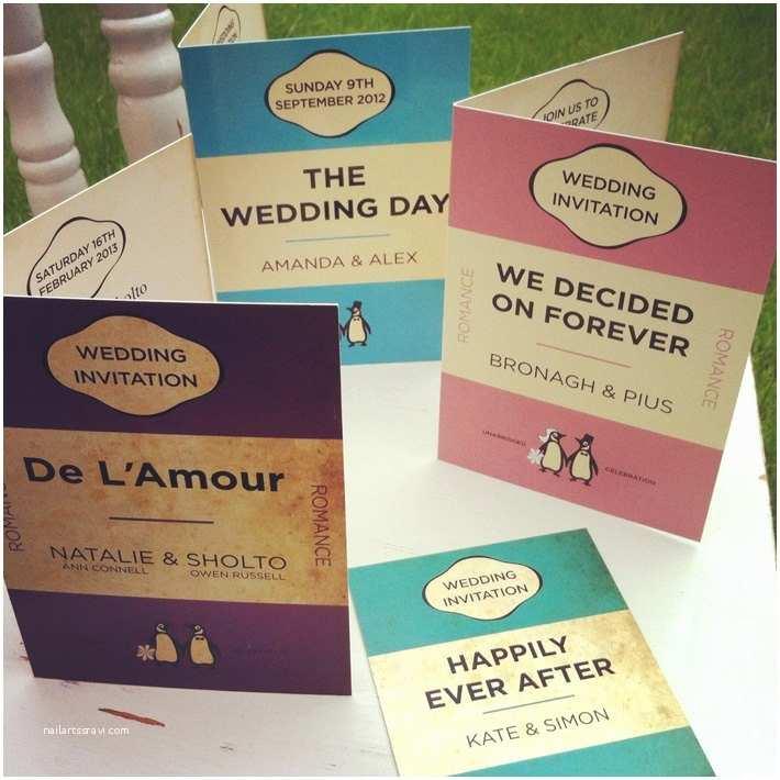 Literary themed Wedding Invitations Penguin Books themed Wedding Invitations and Wedding