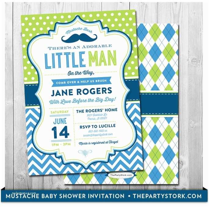 Little Man Baby Shower Invitations Mustache Baby Shower Invitation Printable Little Man Party