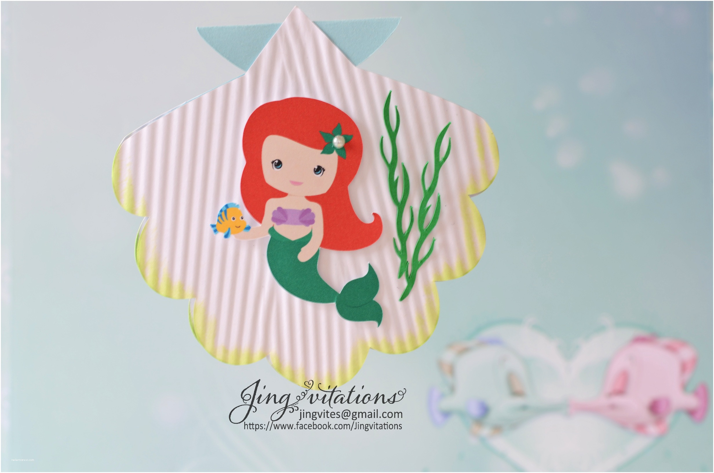 Little Mermaid Baby Shower Invitations 301 Moved Permanently