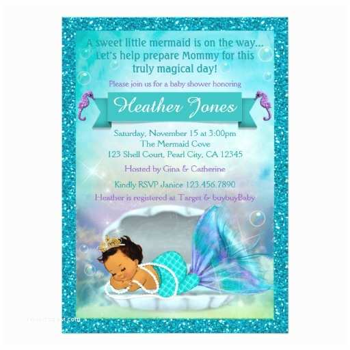 Little Mermaid Baby Shower Invitations Adorable Mermaid Baby Shower Invitations 136 Med
