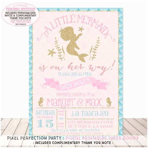 image about Printable Mermaid Baby Shower Invitations identify Minimal Mermaid Boy or girl Shower Invites Mermaid Boy or girl Shower