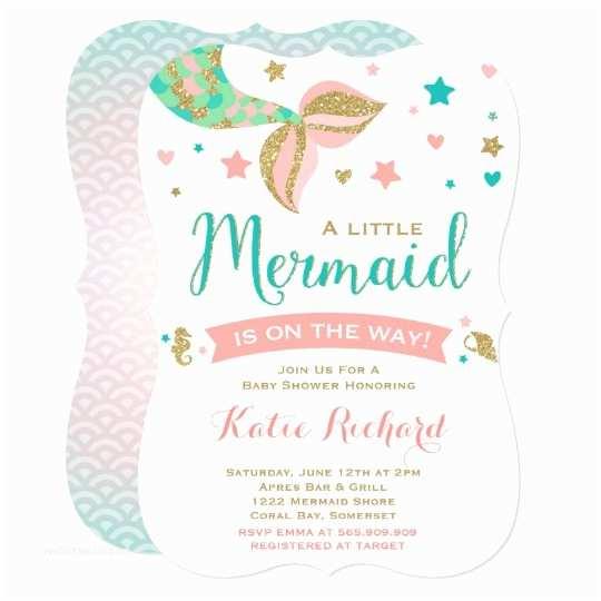Little Mermaid Baby Shower Invitations Mermaid Baby Shower Invitation Little Mermaid Baby