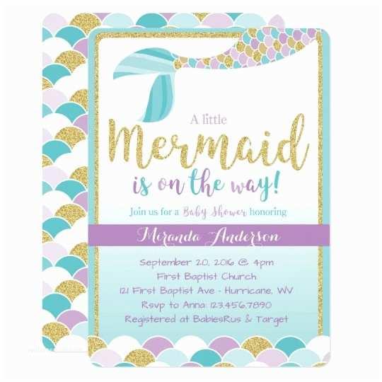Little Mermaid Baby Shower Invitations Mermaid Baby Shower Invitation