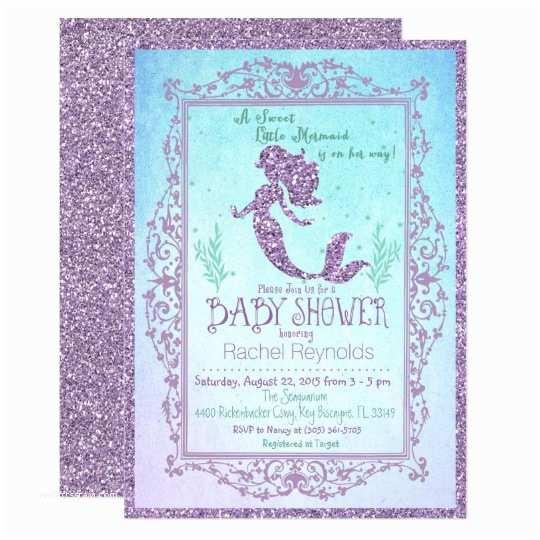 Little Mermaid Baby Shower Invitations Mermaid Under the Sea Baby Shower Invitation