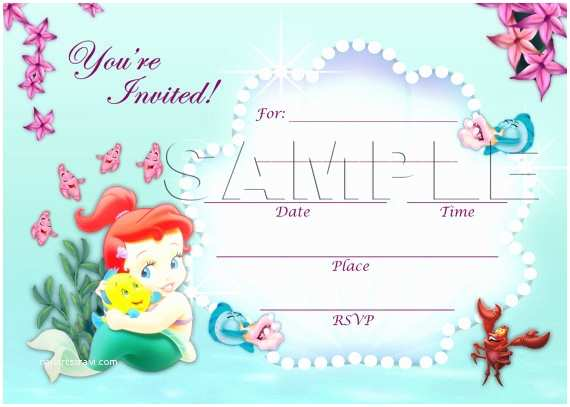 Little Mermaid Baby Shower Invitations the Little Mermaid Invitation Instant Download Disney Baby