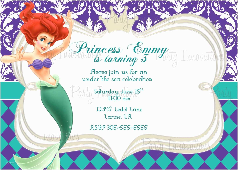 Little Mermaid Birthday Invitations 9 Best Of Free Mermaid Printable Invitation