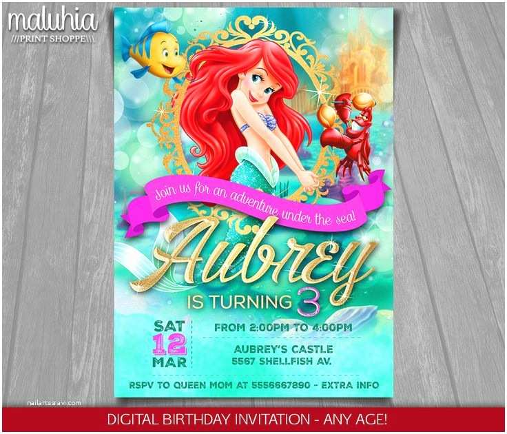 Little Mermaid Birthday Invitations Best 25 Little Mermaid Invitations Ideas On Pinterest
