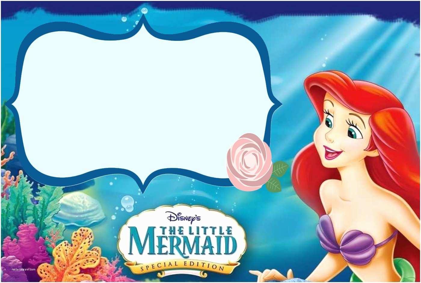 95 The Little Mermaid Birthday Invitations