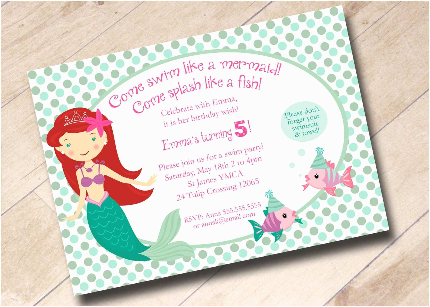 Little Mermaid Party Invitations 7 Plain Little Mermaid Party Invitation Wording
