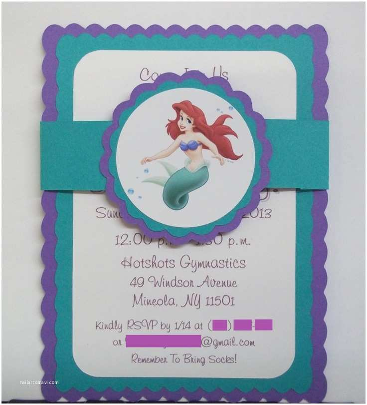 Little Mermaid Party Invitations Little Mermaid Birthday Invitations Via Etsy