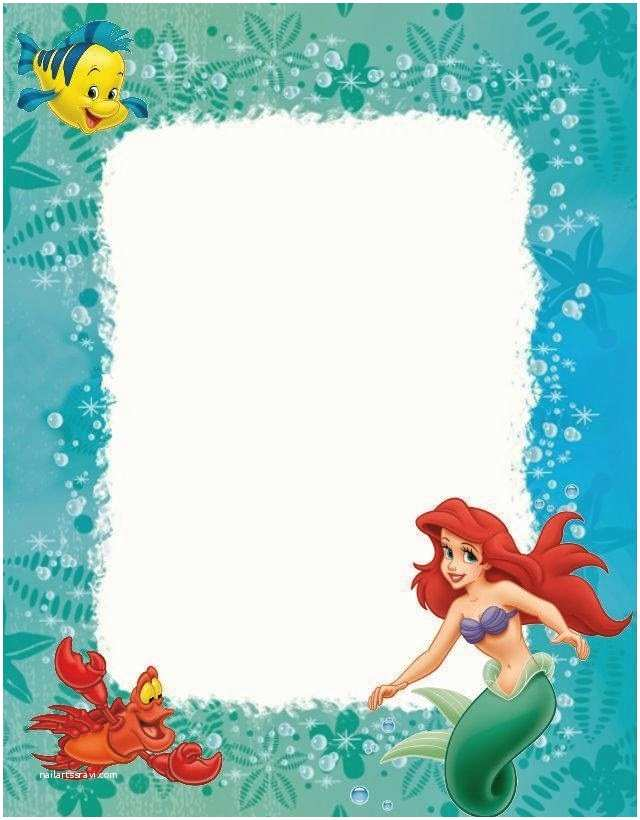 Little Mermaid Party Invitations Little Mermaid Free Printables